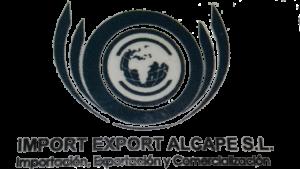 IMPORT EXPORT ALCAPE LOGO DEGRADADO